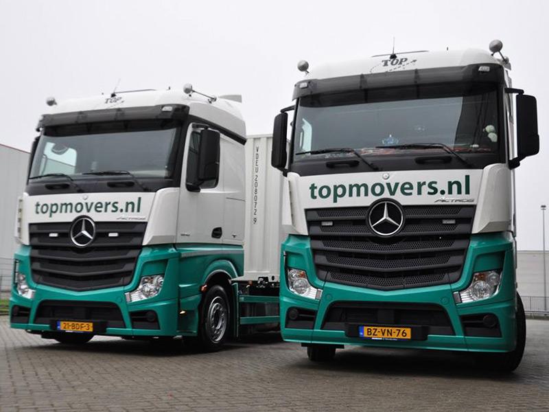 Vrachtwagen verhuizen